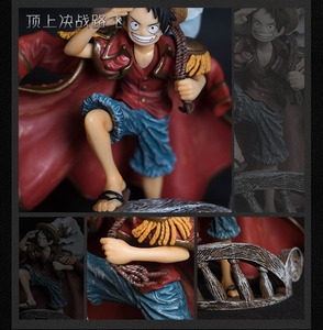 Image 4 - 15cm Scultures Big One Piece Figure Toy Luffy Dracule Mihawk Model Doll With Sword Anime Brinquedos for Children