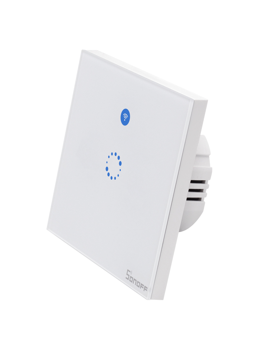 Sonoff T1 EU Smart <font><b>Wifi</b></font> Wall Touch Light <font><b>Switch</b></font> 1 <font><b>Gang</b></font> <font><b>2</b></font> <font><b>Gang</b></font> Touch/<font><b>WiFi</b></font>/433 RF/APP Remote Smart Home Controller Work with Alexa image