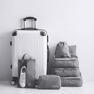 Image 1 - 7 pièces/ensemble loisirs voyage sac vêtements sous vêtements soutien gorge chaussures emballage Cube fixation rétractable et mécanisme dattache de sécurité week end nuit organisateur pochette accessoires