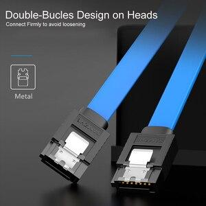 Image 3 - Samzhe Sata Kabel 3.0 Hard Disk Driver Ssd Adapter 90 Graden Buigen Sata Kabel Voor Computer Verbinding