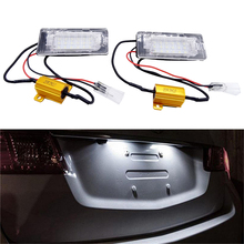 цена на 1 Pair Error Free LED Car Number License Plate Light Fit For VW Touran Touareg Polo Jetta Passat 3C B6 2011 12 13 14 Lamp