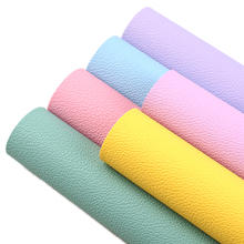 6pcs/set 20*33cm Lychee Pattern Faux Leather Sheets Synthetic Leather Fabric For Bow Earring Handbags Scrapbook DIY Crafts