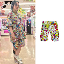 Summer Shorts Flower Streetwear Harajuku Billie Eilish Kpop-Color Plus-Size Women And