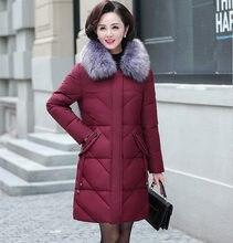プラスサイズ 7XL 8XL ロング冬のジャケットの女性パーカー Mujer フード付き毛皮の襟の冬コート女性中年ママパッド入りジャケット c5865