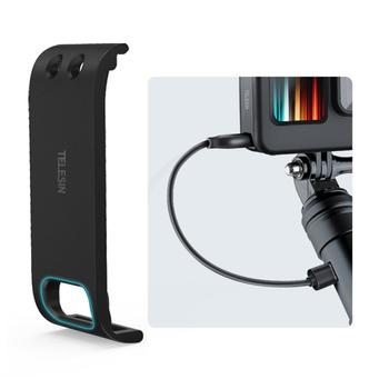 For GoPro Hero 9 Sports Camera Battery Cover Side Protective Black Rechargeable Lid Case Accessories