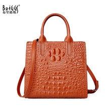 BRIGGS borsa da donna Vintage con motivo a coccodrillo borsa a tracolla in vera pelle da donna borsa a tracolla borse Casual di alta qualità