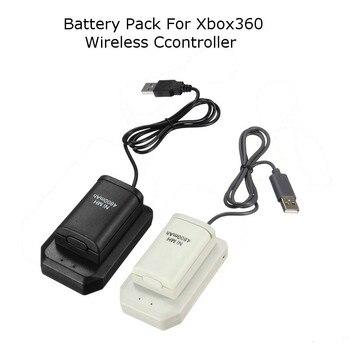 4800mAh 4 In 1 Oplaadbare Batterij Batterijen + Oplader + USB Kabel Opladen Kit Voor Xbox 360 Batterij draadloze Controller