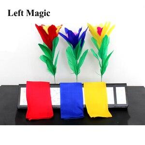 Цветок треугольник Волшебные трюки цветы появляются из пустой трубки Magie Волшебная сцена иллюзии реквизит для фокусов