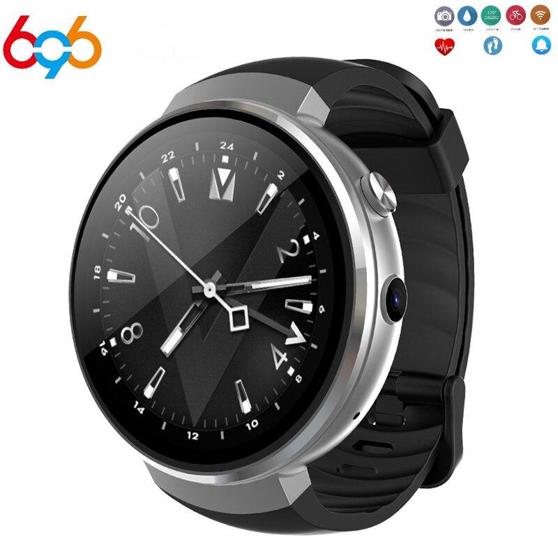 696 Z28 4G montre intelligente hommes Android 7.0 1GB + 16GB Smartwatch GPS caméra 1.39 pouces fréquence cardiaque écran rond montre-bracelet femmes