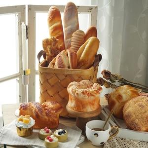 Витрина для выпекания магазина, модель, имитационный хлеб и багет, багет, кухонная мягкая еда, реквизит для фотографии
