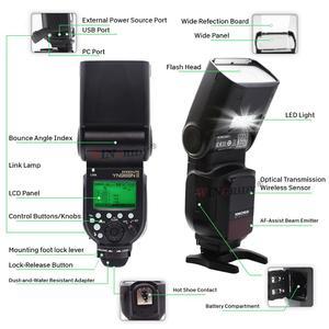 Image 3 - Yongnuo YN968N Ii Flash Speedlite Voor Canon Nikon Dslr Compatibel Met YN622N YN560 Draadloze Ttl Speedlite 1/8000 Met Led Licht