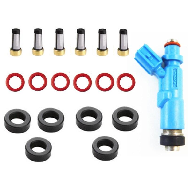 6sets brandstof injector reparatie kit voor Toyota Yaris Vitz Verso Prius 23209-29015 23250-23020 23209- 21020 23209-22060 23209-79135