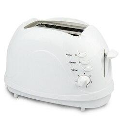 Toster  2 kromka toster  podwójne bardzo szeroki gniazdo mały Mini toster z podgrzać/rozmrażania/funkcja anulować dla małych i dużych chleb|Pieczenie chleba|   -