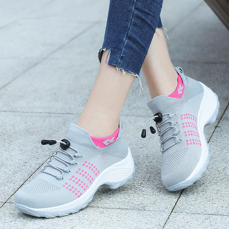 Fashion Girls Sneakers Ladies Outdoor Breathable Comfortable Walking Sock Shoes Size 35-42