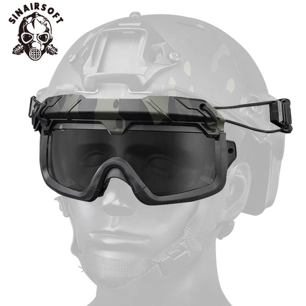 Tactical Helmet Anti-fog Eyewears Transparent Goggles For Hiking Airsoft Hunting Paintball Shooting Accessories
