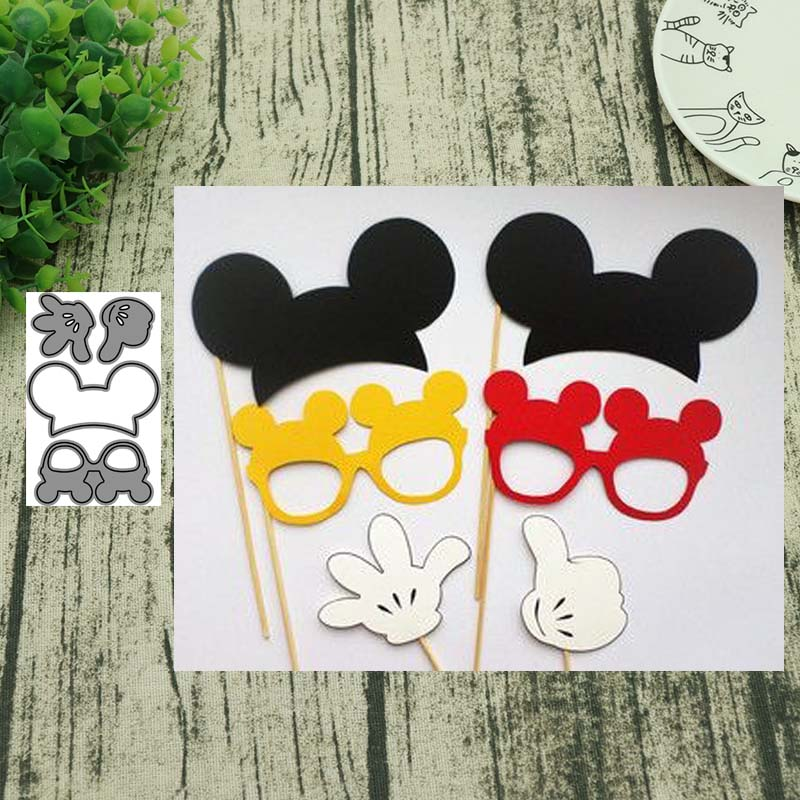 AddyCraft Metal Cutting Dies Cut Die Mold Mouse Glasses Scrapbook Paper Craft Knife Mould Blade Punch Stencils