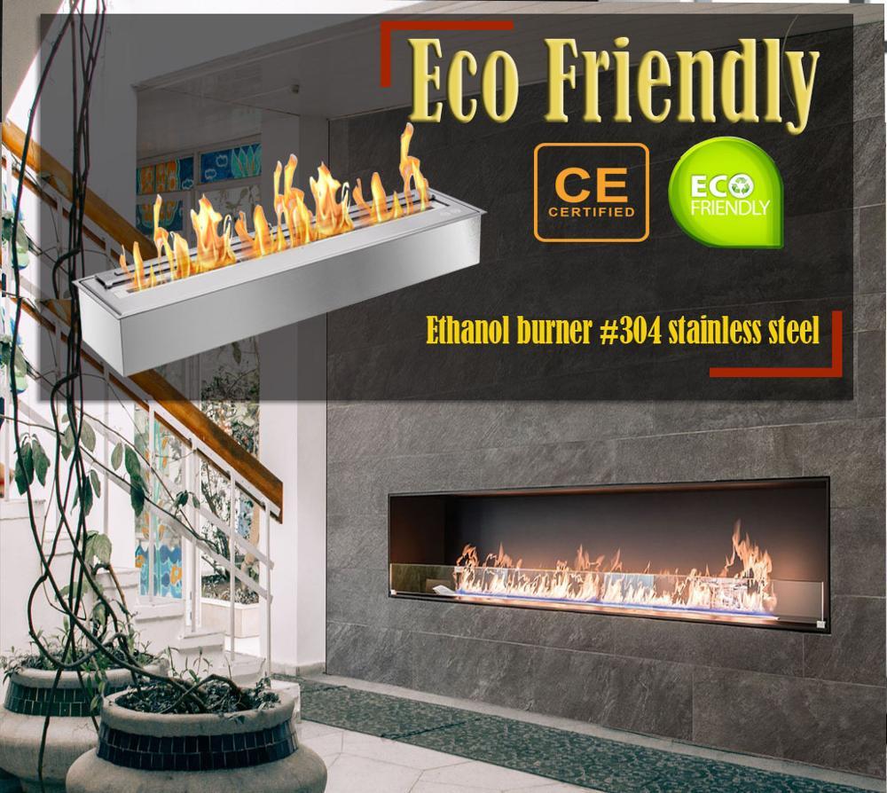Inno Living Fire  48 Inch Bio Ethanol Glass Fireplace Ethanol Heaters
