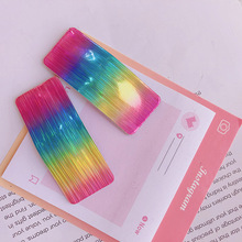 New Colorful Laser Glossy Hair Clips Rectangular Geometric Rainbow Clip Bangs Cute Hairpin Accessories Women