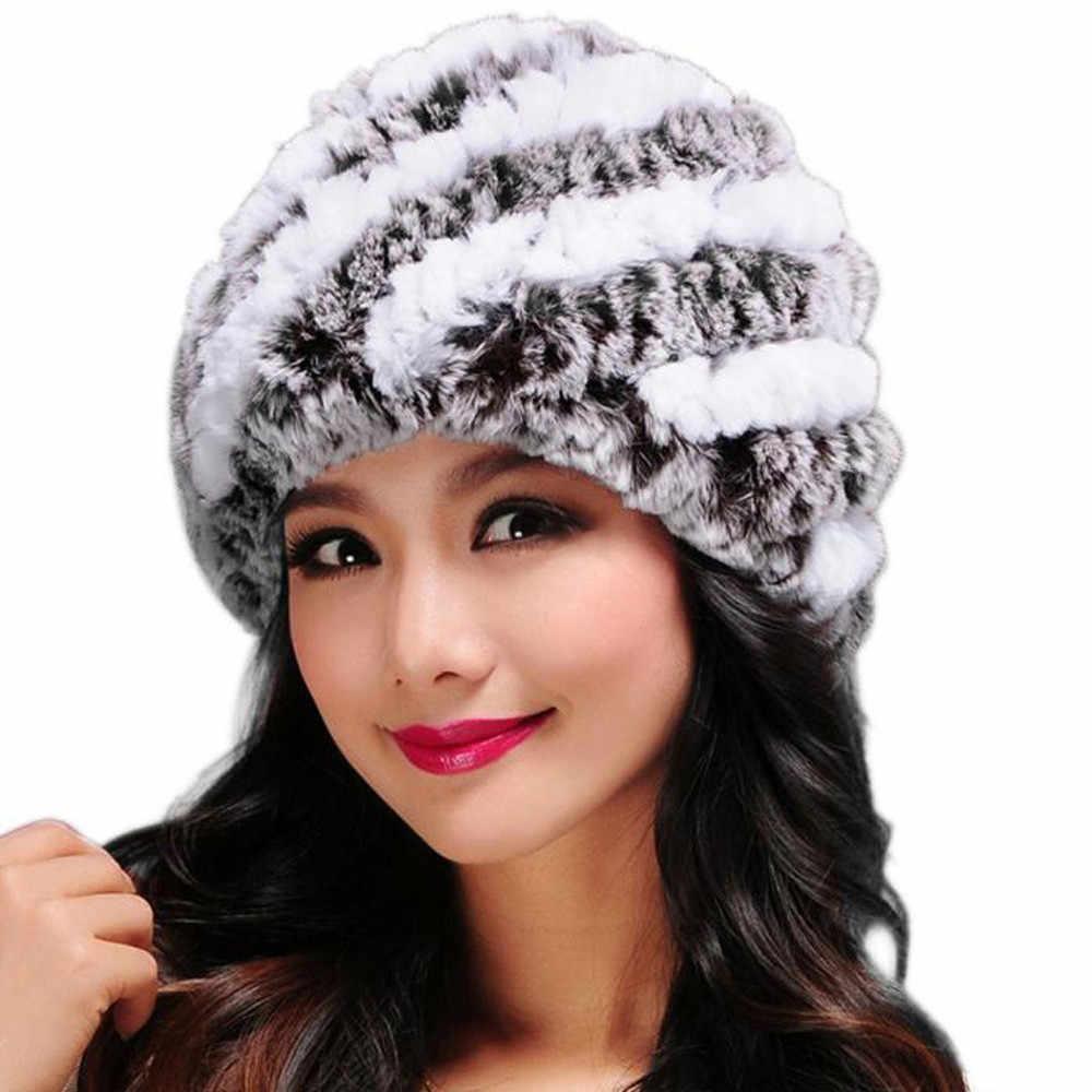 Chapéu Para O Inverno das mulheres De Pele Natural da Pele Do Falso Cap Russo Feminino Fur Chapelaria 2019 Famous Brand New Fashion Gorros Quentes cap