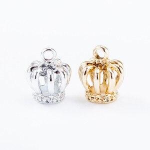 10pcs/pack 3D Crown Metal Charms Pendant DIY Necklace Bracelet Bead Handmade Jewelry Findings 14*12mm