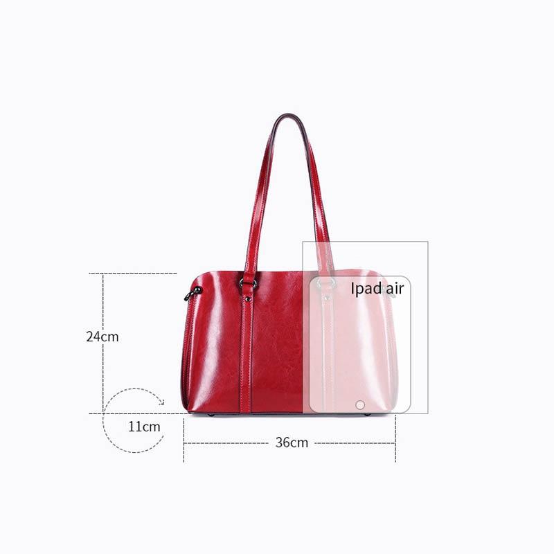 Image 3 - DIENQI Saffiano bags ladies genuine leather shoulder bag female  luxury women Real leather handbags big Boston messenger bags  redShoulder Bags
