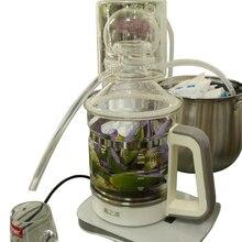 2.5L стеклянная китайская медицина дистиллятор бытовой чистой росы машина мини эфирное масло рафинирования оборудования электрическое отопление пивовар