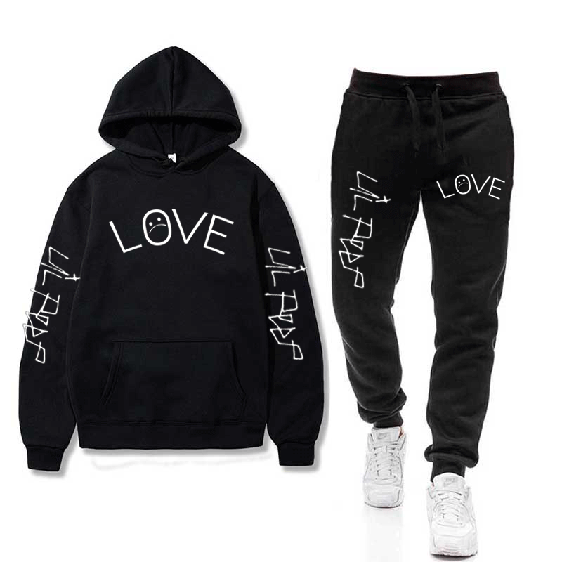 Lil Peep Hoodies Sets Sad Boys Hoodies+Pants Warm Fleece Wholesale Tracksuit Sports Suits Drop Shipping Sweatshirts Sportswear
