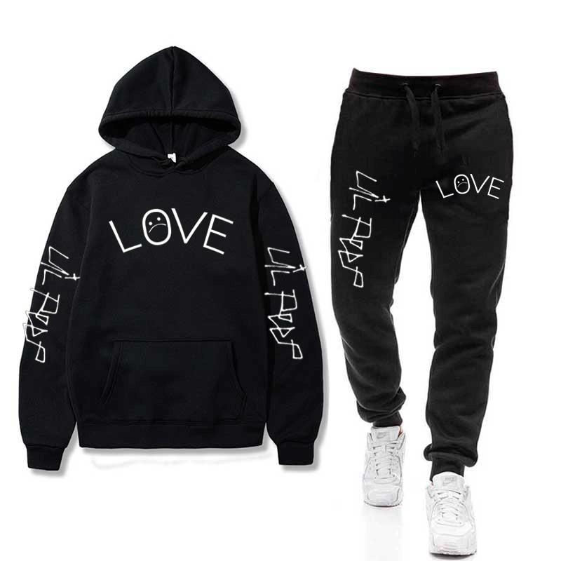 Lil Peep Hoodies Sets Sad Boys Hoodies+Pants Warm Fleece Wholesale Tracksuit Sports Suits Drop Shipping Sweatshirts Sportswear