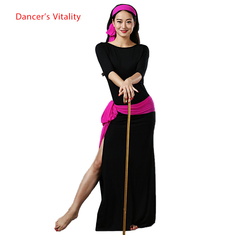 Performance Modal Women's Round Neck Belly Dance Clothing Sexy Belly Dance Dress Dance Dress Women's
