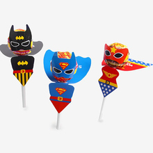 Superhero Superman Batman Cartoon Candy Lollipop Decoration Cards For Kids Birthday Party Supplies C