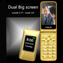 Flip Mobile Phone For Old Senior People Speed Dial Large Rus