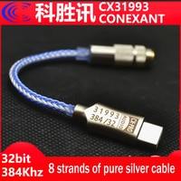 Più recente CX31993 USB tipo C DAC amplificatore per cuffie blu con uscita 3.5mm SNR128dB PCM 32b/384kHz per telefonata Android windows 10