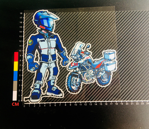 Image 4 - 1PCS Car Styling Vinyl Applique Tape Motorcycle Side Box Oil Tank Decorate Stickers for GS Adventure MOTO RIDE R1200GS