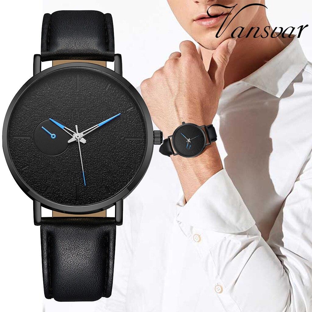 Man watch Reloj hombre vansvar Men's Casual Quartz Leather Band Newv Strap Watch Analog Wrist Watch Montre homme Zegarek męski14