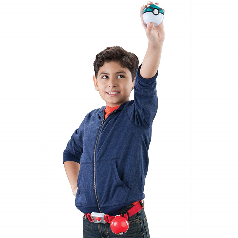Genuine TOMY Pokemon Elf Ball Belt Pikachu Pokeball Pocket Monster Variant Toy Set cosplay Action Figure Model Kids Toy Gift 2