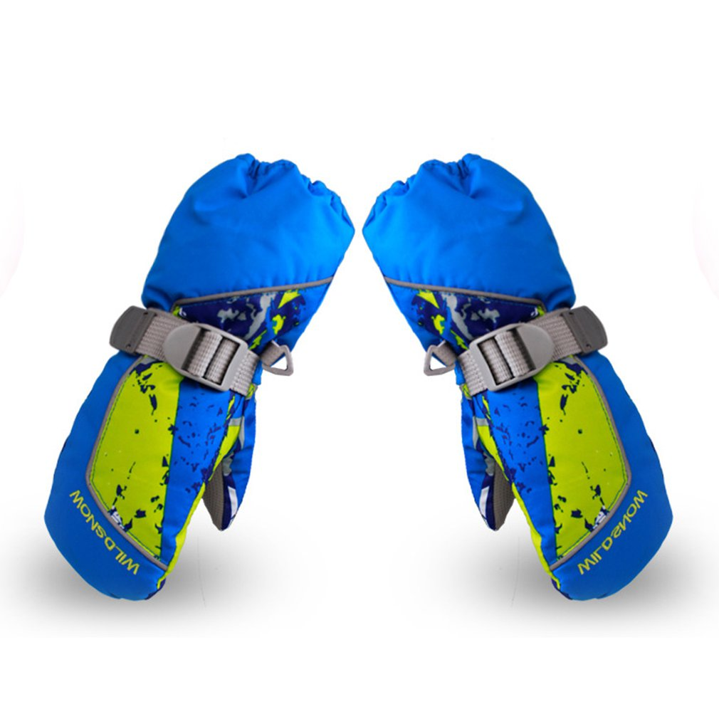 Children Skiing Gloves Waterproof Non-slip Snow Skating Gloves Thick Warm Gloves Mittens For Winter Sports New 2018