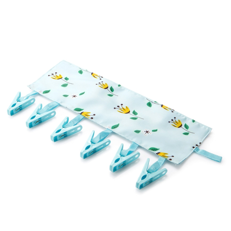 Foldable Clothes Hanger Cover Reusable Cute Cloth Drying Rack Clips Portable Travel Drying Clothes Clip Bathroom