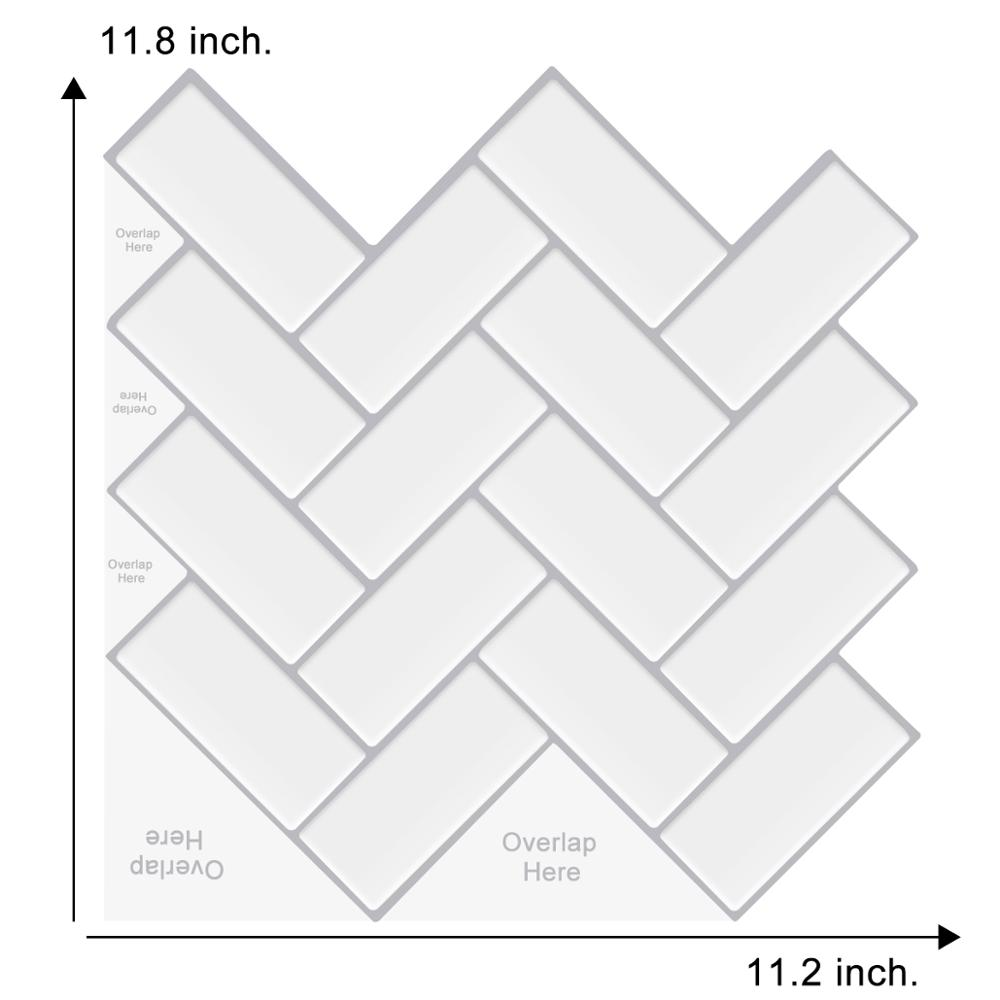 New Design DIY Self Adhesive Wall Tile Waterproof 3d Tile Strong Adhesive Decoration Wall Sticker