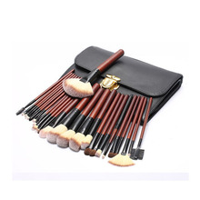 26 pcs of horse hair makeup brush set powder eye shadow liquid foundation blush mixed beauty female cosmetics makeup brush