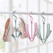 1 шт. креативный двойной крюк ветрозащитный крюк для хранения подвесная полка для обуви портативная вращающаяся сушильная стойка для обуви Балконная вешалка стойка для обуви
