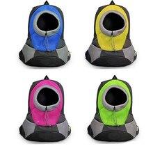 Pet Dog Carrier Travel Double Shoulder Backpack Bag Portable Front Breathable Mesh