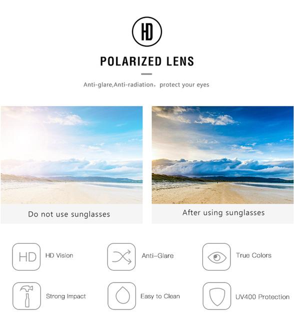 High-quality aluminum and magnesium sunglasses for men