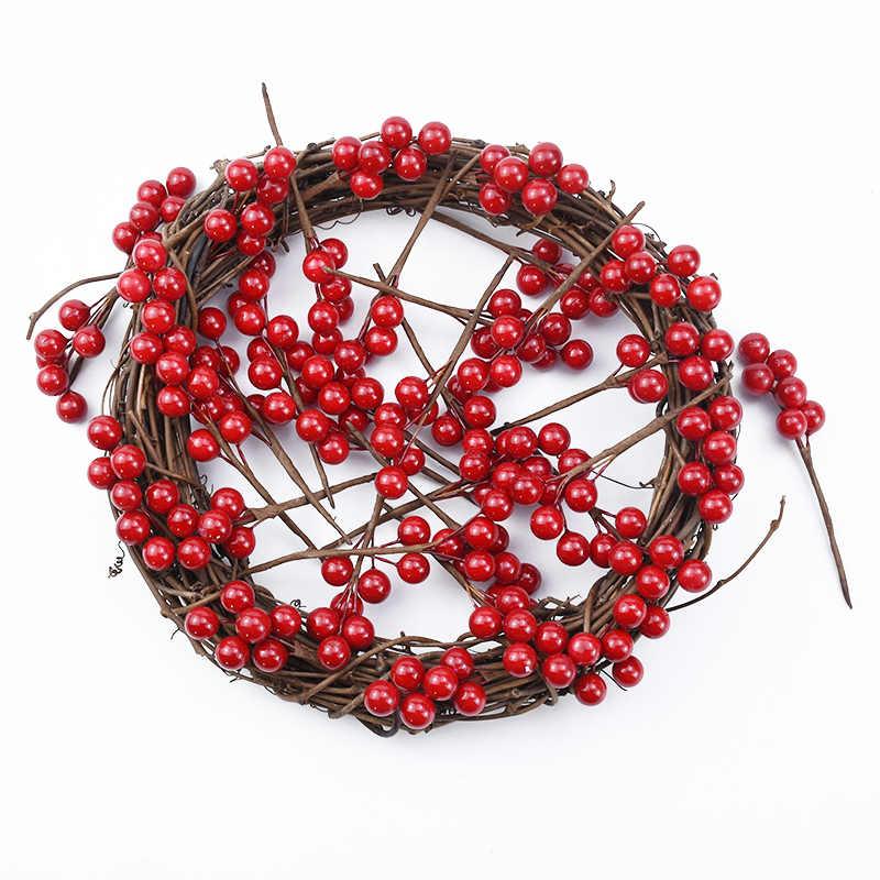 5/10 個フェイク植物お祝い weedding 花嫁ブローチ果実クリエイティブ diy のギフトボックス撮影赤ベリー家の装飾クリスマス花輪