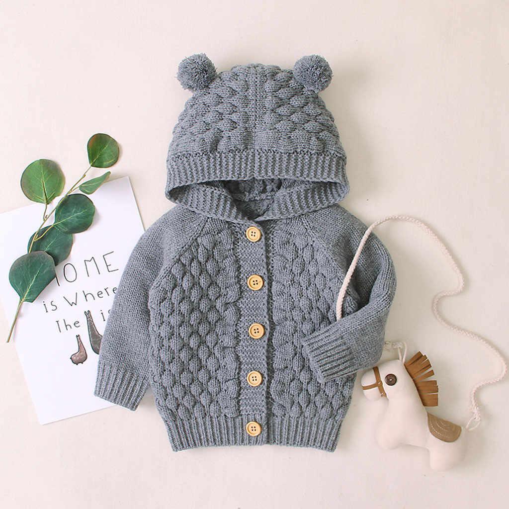 เสื้อกันหนาวเด็กเด็กวัยหัดเดินทารกแรกเกิดเด็กทารกเด็กผู้ชายฤดูหนาว WARM Coat เด็กถักเด็กเสื้อ