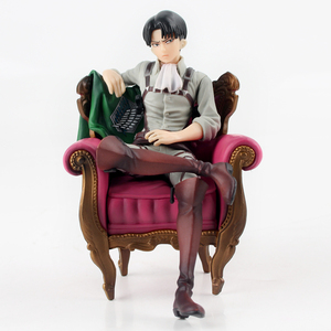 13cm Anime Attack on Titan Levi Rivaille Rival Ackerman Sofa Solider Levi Sleeping Chair Ver. PVC Action Figure Model Toy Gift