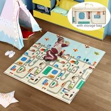 Складной коврик для ползания, детский игровой коврик, одеяло, развивающие игрушки, двусторонний детский игровой коврик XPE, мягкий напольный ...