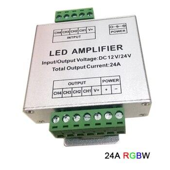 RGBW/RGB LED Amplifier DC12V-24V 12A 24A 30A 3CH 4CH Output  LED Strip light Power Repeater led lamp tape Console Controller dc12v 24v rgb rgbw rgbww rgb cct led amplifier 12a 15a 24a 30a rgbwc led strip tape power repeater controller