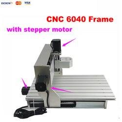 Mini 6040 CNC rama tokarka zmontowany silnik z wyłącznikiem krańcowym obróbka CNC dla aluminium drewna routera CNC