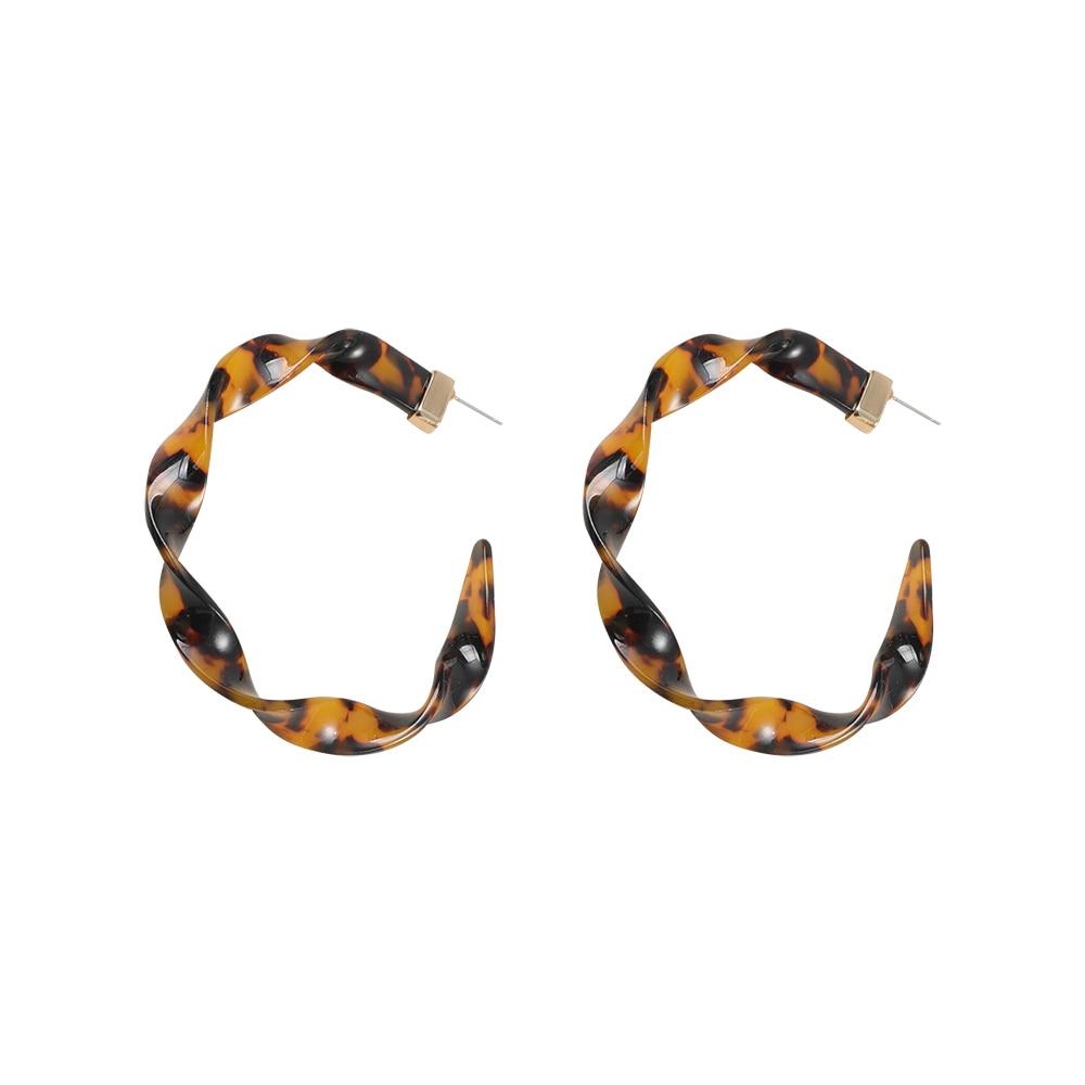 Женские леопардовые фигурные серьги ZA, висячие серьги черепаховой расцветки из акрилацетата, украшения для вечеринок - Окраска металла: 20107