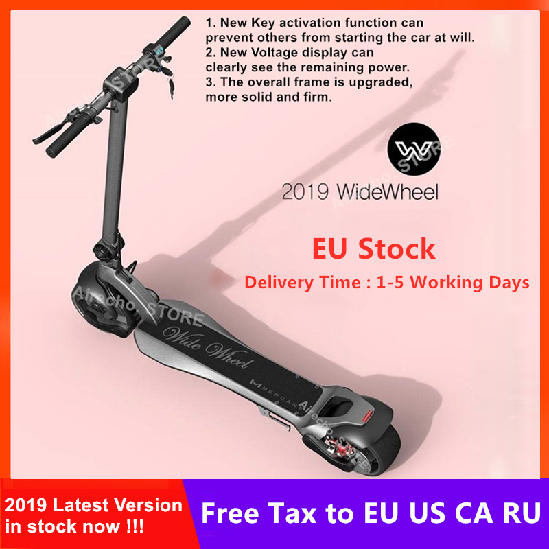 EU Stock Latest Mercane WideWheel Electric Scooter 48V 500W / 1000W Wide Wheel KickScooter Single / Dual Motor Skate Hoverboard